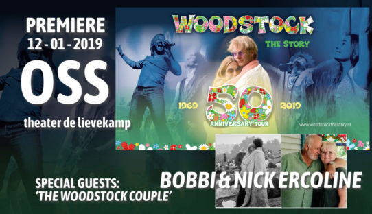 'Woodstock Couple' Bobbi & Nick Ercoline bei Premiere Woodstock the Story (Oss, NL, 12. januar 2019)